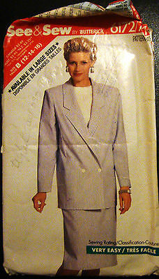 Butterick Sewing Pattern 6172 - Ladies Retro/Classic Suit -  Size 12-16  Used