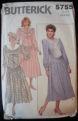 Butterick Sewing Pattern 5755 - Ladies Classic Dress - Size 6  Used