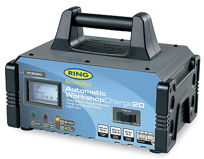 Ring Automotive RCB320 Fully Auto Battery Charger/Engine Start Metal Case, 12...