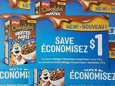 (10) Save $1.00 Kellogg's Chocolatey Frosted Flakes (Canada Only)