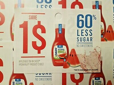 Coupons (10) Oasis Hydrafruit Beverage (Canada Only)