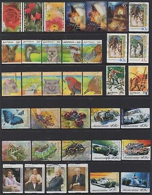 AUSTRALIA No.11 DECIMAL COLLECTION OF (37) STAMPS VFU