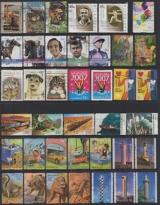 AUSTRALIA No.40 DECIMAL COLLECTION OF (39) STAMPS VFU