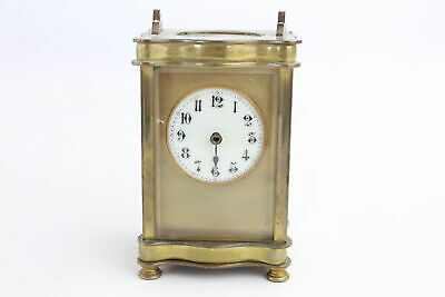 Antique French Heavy BRASS CARRIAGE CLOCK Key-Wind (957g)