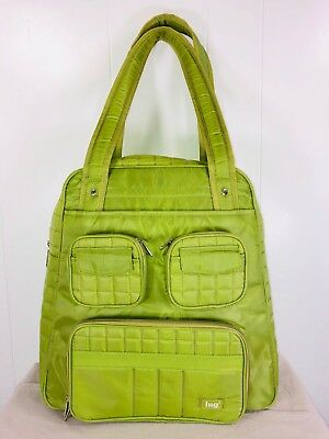 Lug Puddle Jumper Lime Green Square Quilted Overnight Gym Bag Luggage