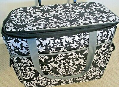 Sewing Machine/Craft Rolling Case Tote w/ Adjustable Handle/ Extra Storage Space