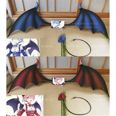 Re:Life in a different world from zero Devil Vampire Bat Wings Tail Cosplay Prop