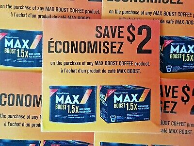(10) Save $2.00 Maxwell House Max Boost Coffee (Canada Only)