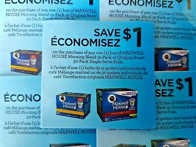(10) Save $1.00 Maxwell House Morning Blend/Original Roast Coffee (Canada Only)