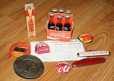 Vintage Coca Cola Lot - Total Of 9 Items