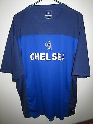 9acaceaa4c5 vintage CHELSEA FC 90s? Umbro blue football training shirt jersey XL soccer  rare