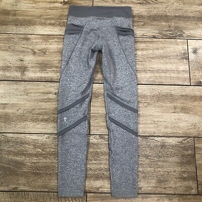 913f4c5b5cb2b IVIVVA by Lululemon Dream Warrior Leggings Size 12 Heathered Slate Rhythmic  RARE