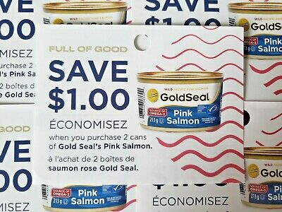 (10) Save $1.00 Gold Seal's Pink Salmon (Canada Only)