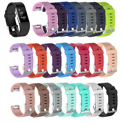 FOR Fitbit CHARGE 2 Replacement Silicone Rubber Bands Strap Wrist Band DT