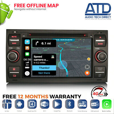 "7 "" Android 8.0 Octacore GPS Wifi Navigatore Satellitare Radio Stereo per Ford"