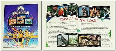 RARE 1998 KINGS ISLAND Amusement Theme Park 28-Page GETAWAY GUIDE & BROCHURE