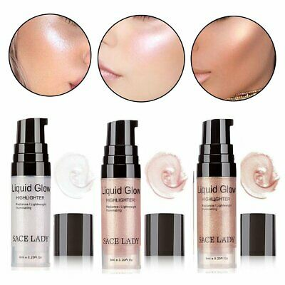 6ml Face Brighten Highlighter Cream Liquid Illuminator Makeup Shimmer Glow MN