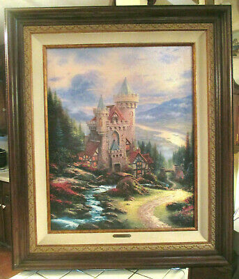AUTHENTIC -Thomas Kinkade -Guardian Castle-LIMITED ED Offset Lithograph PRINT