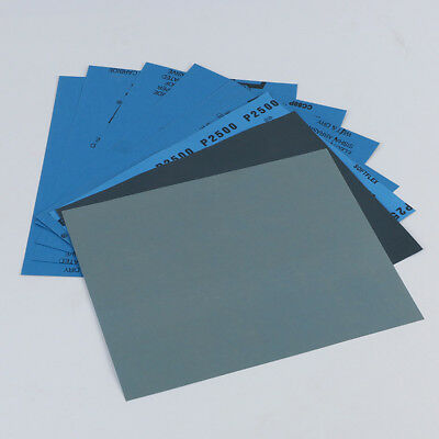 Wet and Dry Sandpaper Any Grit 150-8000 Sanding Paper Woodworking Abrasive Tool
