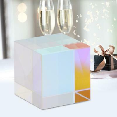 Six-Sided Bright Light Cube Stained Glass Prism Beam Splitting Prism