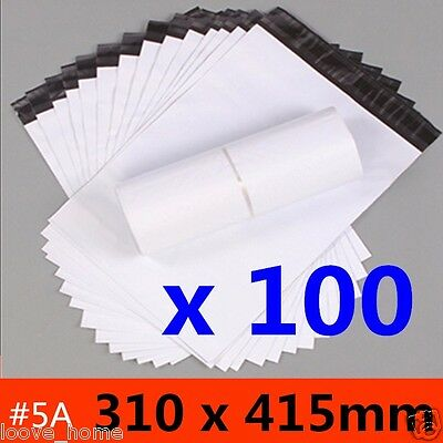 100x 310x405mm Plastic Satchel Courier Poly Mailer Self Sealing Mailing Post Bag