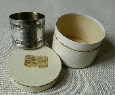 Antique Silver Plated Napkin Ring Floral Louis Xvi Frieze Stamped Boxed Unused