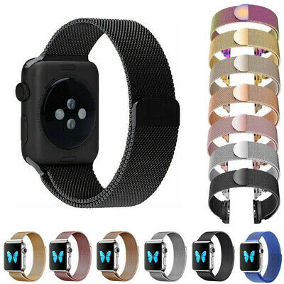 Apple Watch Series 4/3/2/1 Milanese Magnetic Stainless Steel Strap iWatch Band