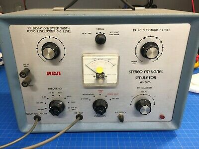 Vintage RCA  WR-52A STEREO FM SIGNAL SIMULATOR WR52A with manual