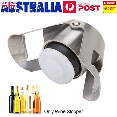 Reusable Stainless Steel Champagne Stopper Sparkling Wine Bottle Plug Sealer UL