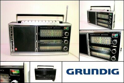 Vintage 1970s GRUNDIG SATELLIT 2000 FM AM Portable Radio Shortwave Receiver