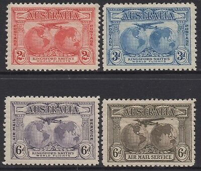 Australia 1931 Kingsford Smith's Flights Set Of (4) O.gum  Mlh