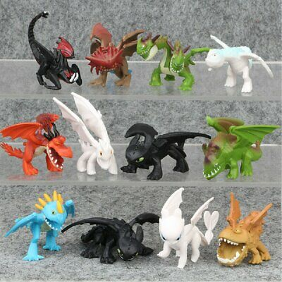 How To Train Your Dragon 12pcs Light Night Fureur Édenté Figurine Modèle Jouet