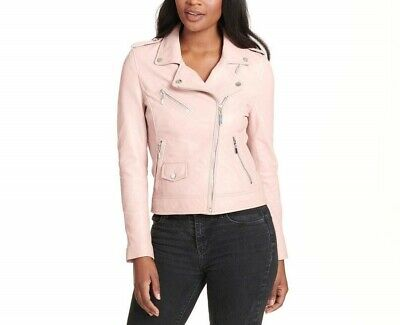 Womens Classic Cropped Biker White Lamb Moto Real Leather Jacket  All Sizes FF2