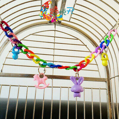 Cool Colorful Toys For Parakeet   Parrot   Budgie  Bird  Toy Swing Cage Chain