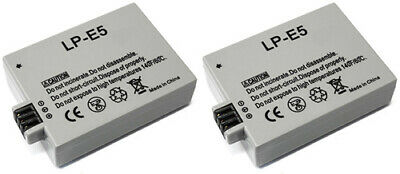 2x Battery for Canon LP-E5 LPE5 Rebel T 1i XSi EOS 500D 1000D Kiss X2 X3