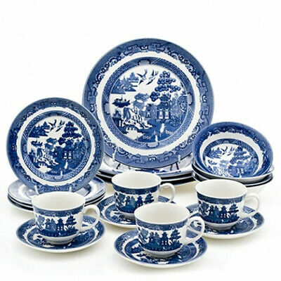 Johnson Brothers Blue Willow 20Pc Dinner Set Rrp$329