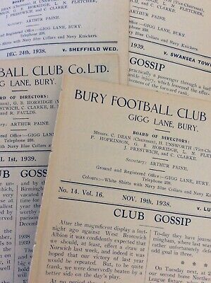 PRE War & Wartime Football Programmes EX BOUND VOLUME - NO COVERS