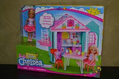 Brand New Barbie Doll Club Chelsea Gift Set Club House Playset With Chelsea Doll