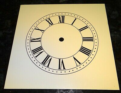 LOT OF 5 Klock-It SQUARE Clock Dials Faces OFF-WHITE ROMAN or ARABIC 7.5""