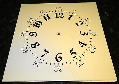 Large KLOCK-IT Clock Dial Face SQUARE OFF-WHITE ARABIC NUMBERS 9.5""