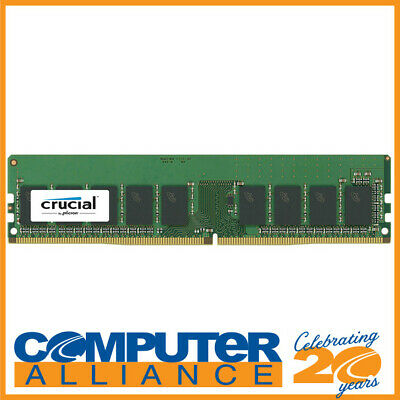 8GB Crucial DDR4 (1x8GB) 2400MHz ECC Unbuffered Server Memory PN CT8G4WFS824A