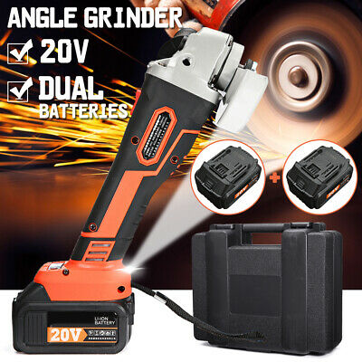 30000mAh Electric Cordless Angle 1/2 Grinder Rechargable Li-ion Battery Cutting