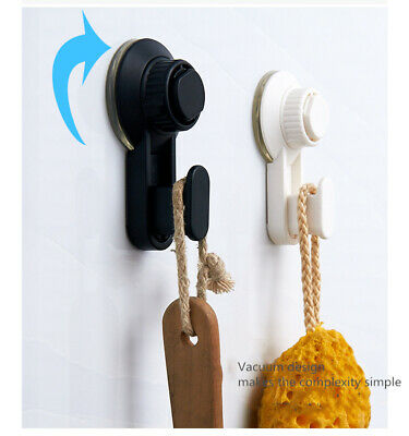 2PCS Super Suction Cup Hook Strong Suction Cup Wall Hanger For Kitchen Bathroom