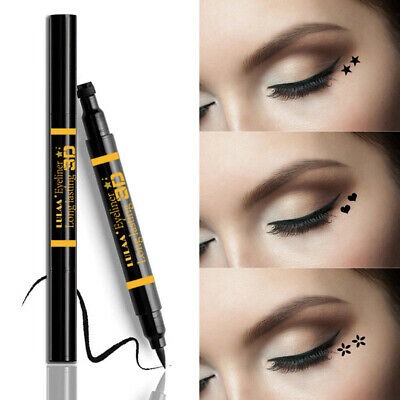 Lasting Waterproof Tattoo Stamp Eye Liner Pen Double-headed Liquid Eyeliner