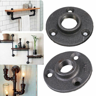 "10 Floor Flange Wall Mount 1/2"" 3/4"" BSP Malleable Iron Pipe Fittings Industrial"