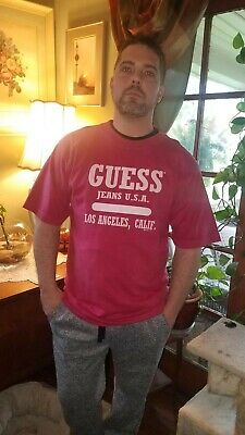 184dbafe73 Vintage Guess Jeans USA Graphic T-Shirt Georges Marciano Made In USA Men's L ,