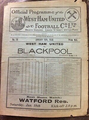 PRE War & Wartime Football Programmes