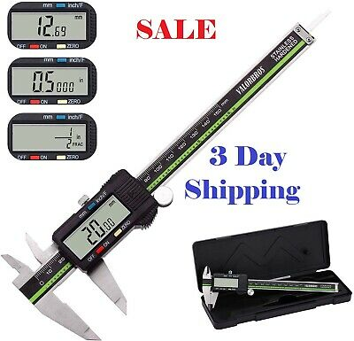 Electronic Digital Caliper with Extra Large LCD Screen 0 - 6 Inches NEW in Box