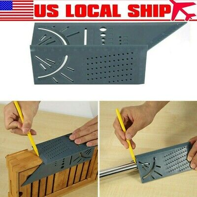 Woodworking 3D Mitre Angle Measuring Square Size Measure Tool With Gauge&Ruler a