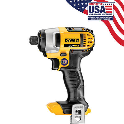 "New Dewalt 20 Volt Max Lithium Ion 1/4"" Impact Driver With Belt Clip # DCF885"